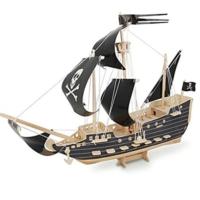 İdeal 3D Büyük Ahşap Maket Korsan Gemisi