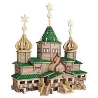 İdeal 3D Büyük Ahşap Maket Rus Noel Evi