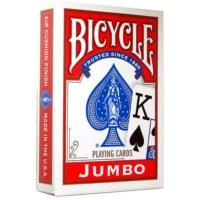 Bicycle Jumbo Poker İskambil Oyun Kağıdı (2 Tarafı Yazılı Oyun Kartı Kırmızı)