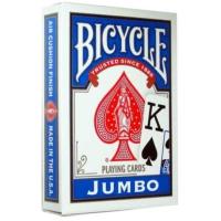 Bicycle Jumbo Poker İskambil Oyun Kağıdı (2 Tarafı Yazılı Oyun Kartı Mavi)