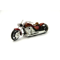 Motor Max Motormax 1:18 Kutulu Chopper Kırmızı Motorsiklet