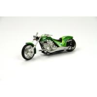 Motor Max Motormax 1:18 Kutulu Chopper Yeşil Motorsiklet