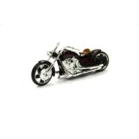 Motor Max Motormax 1:18 Kutulu Chopper Motorsiklet (Siyah-Bordo)