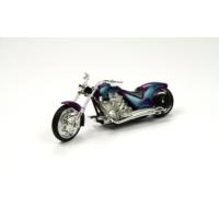 Motor Max Motormax 1:18 Kutulu Chopper Model Motorsiklet (Mor)