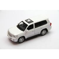 Vardem Sesli ve Işıklı 1:32 Toyota land Cruiser Çek Bırak Araba (Beyaz)