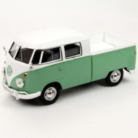 Motor Max 1:24 Volkswagen Type 2 (T1) Double Car Pickup (Yeşil)
