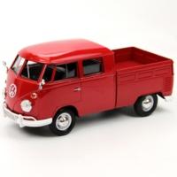 Motor Max 1:24 Volkswagen Type 2 (T1) Double Car Pickup (Kırmızı)
