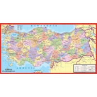 Puzz K.Color 35 x 50 150 Parça Çer.İl İl Türkiye Yapboz
