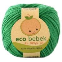 Eco Bebek Organik Pamuk El Örgü İpi - Açık Yeşil