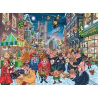 Jumbo 2 x 1000 Parça Heyecan Dorukta Wasgij 12 Puzzle (Christmas 12)