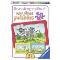 Ravensburger 3 x 6 Parça Hayvanlar Puzzle (Baby İlk Puzzle Setim)