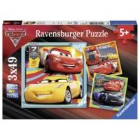 Ravensburger Disney Cars 3 3 x 49 Parça Çocuk Puzzle (080151)
