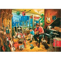 Art Puzzle Cross Roads Music Shop 1500 Parça Puzzle