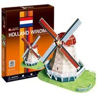 Cubic Fun Puzzle Holland Windmill (3 Boyutlu)