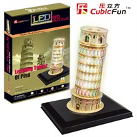 Cubic Fun Puzzle Leaning Tower of Pisa (3 Boyutlu)