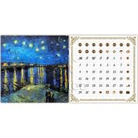 Pintoo Yıldızlı Gece Van Gogh Takvim Puzzle 200 Parça
