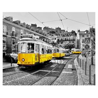Pintoo Lisbon, Sarı Tramvaylar Plastik Puzzle 2000 Parça