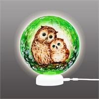 Pintoo Baykuşlar Ve Yavru Kediler 3D Işıklı Küre Plastik Puzzle 60 Parça