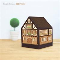 Pintoo Ahşap Ev 3D Işıklı Ev Puzzle 208 Parça