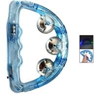 Pandoli Plastik Işıklı Eğlence Tefi Mavi Renk