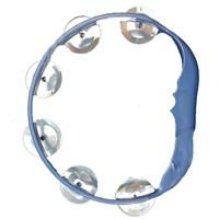 Pandoli Plastik Zilli Eğlence Tefi Mavi Renk