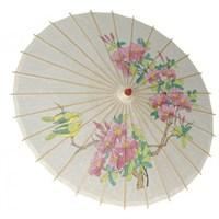 Pandoli Bambu Ahşap Geyşa Şemsiyesi