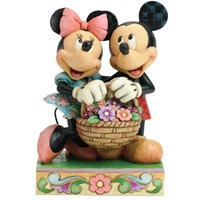 Disney Traditions Enesco Love In Bloom Basket