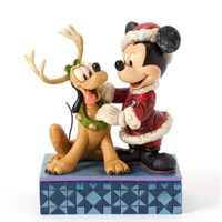 Disney Traditions Enesco Mickey Mouse And Pluto