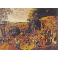 Ricordi Puzzle The Golgota - Bruegel Peter Il Giovane (1500 Parça)
