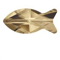Swarovski 1 Adet Gölgeli Kristal Balık Boncuk - 5727