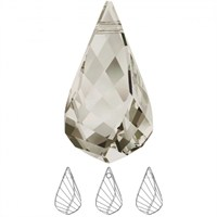 Swarovski 1 Adet Gümüş Kristal Sarmal Kolye Ucu 6020