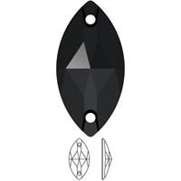 Zirkon 2 Adet Kristal Oval Dikilebilen Boncuk - 32