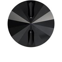 Zirkon 1 Adet 14 Mm Siyah Yuvarlak Düğme - 3015