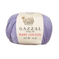 Gazzal Baby Cotton Açık Lila Bebek Yünü - 3420