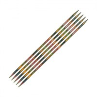 Knitpro Symfonie 4,5 Mm 20 Cm Ahşap 5'Li Çorap Şişi - 20110