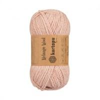 Kartopu Melange Wool Pembe El Örgü İpi - K135