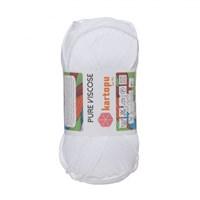 Kartopu Pure Viscose Beyaz El Örgü İpi - K010