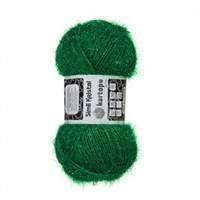 Kartopu Simli Kristal Yeşil El Örgü İpi - K416