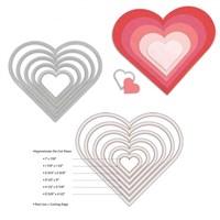 Sizzix 6 Parçalı Kalp Seti Kalıbı - 1657561