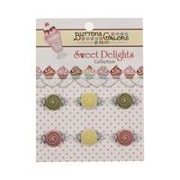 Kartopu Şekerli Dekoratif Düğme - Sd103
