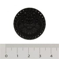 Hobium Büyük Boy Taşlı Siyah Fantazi Düğme