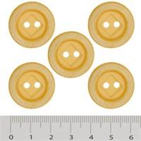 Hobium Orta Boy Sarı Fantazi Düğme