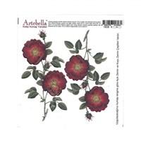 Artebella 16,5 X 17,5 Cm Boyutunda Açık Zemin İçin Kolay Kumaş Transfer Kağıdı - 1808V