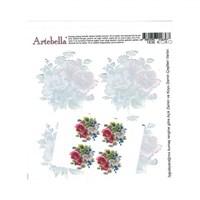 Artebella 16,5 X 17,5 Cm Boyutunda Koyu Zemin İçin Kolay Kumaş Transfer Kağıdı - 1836K