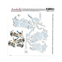 Artebella 16,5 X 17,5 Cm Boyutunda Koyu Zemin İçin Kolay Kumaş Transfer Kağıdı - 1807K