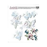 Artebella 16,5 X 17,5 Cm Boyutunda Koyu Zemin İçin Kolay Kumaş Transfer Kağıdı - 1803K