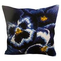 Collection D'art 40X40 Cm Kış Çiçeği Desenli Goblen Yastık Kiti