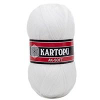 Kartopu Ak-Soft Beyaz El Örgü İpi - K010