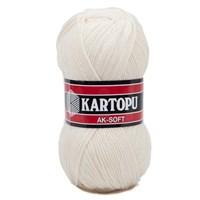 Kartopu Ak-Soft Beyaz El Örgü İpi - K025