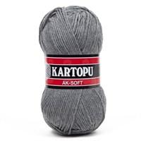 Kartopu Ak-Soft Gri El Örgü İpi - K1002